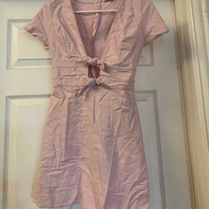 Pink knot dress